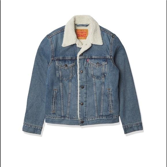 Levi's Men's Sherpa Tucker Denim Jacket